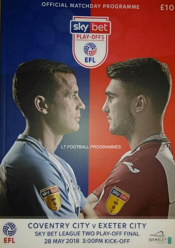 2018 LEAGUE TWO PLAY-OFF FINAL - COVENTRY CITY v EXETER CITY